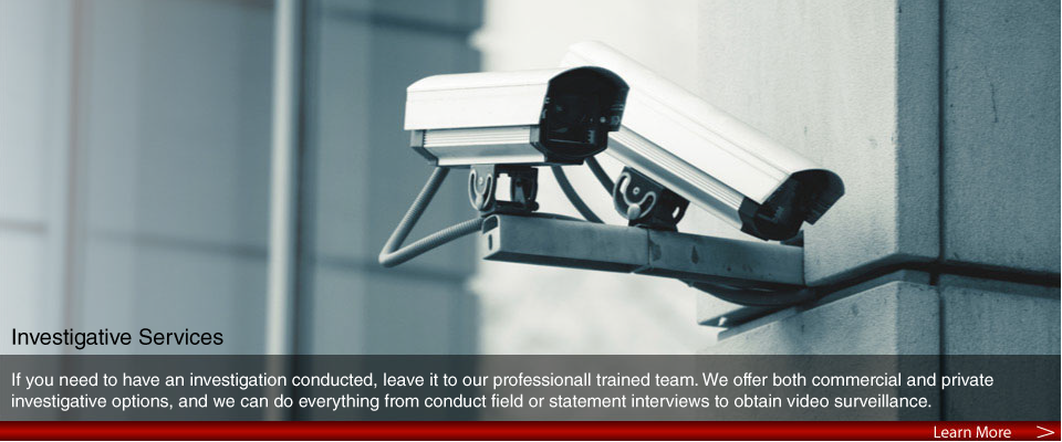If you need to have an investigation conducted, leave it to our professionally trained team. We offer both commercial and private investigative options, and we can do everything from conduct field or statement interviews to obtain video surveillance.