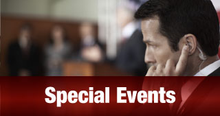 Special Events | Man with ear piece